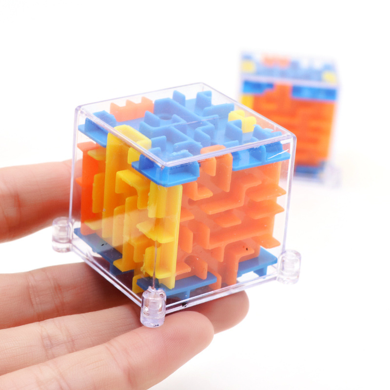 100 Steps Mini 3D Maze Stereo Labyrinth Square Rotating Adult Decompression Magic Cubes Children's Educational Toys Gift