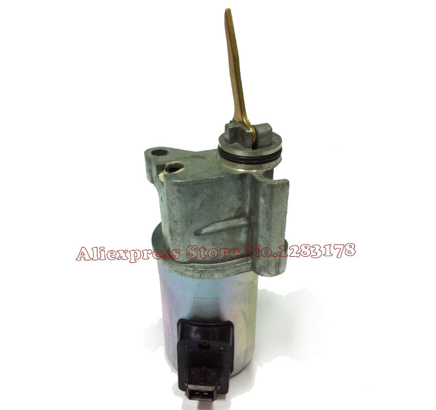 Fuel Shutoff Solenoid Valve For DEUTZ ENGINE BFM2012 24V 0419 9905 3924450 2001es 12 fuel shutdown solenoid valve for cummins hitachi