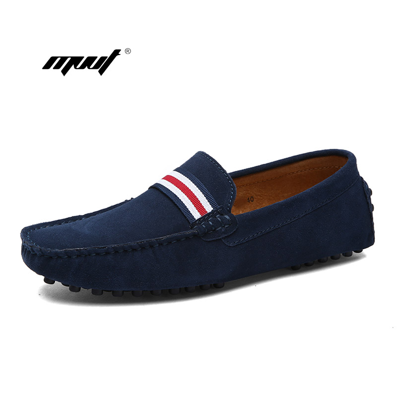 Soft driving shoes Men Loafers Casual Genuine   Leather   Shoes Moccasins Men Flats   Suede   Shoes Slip On