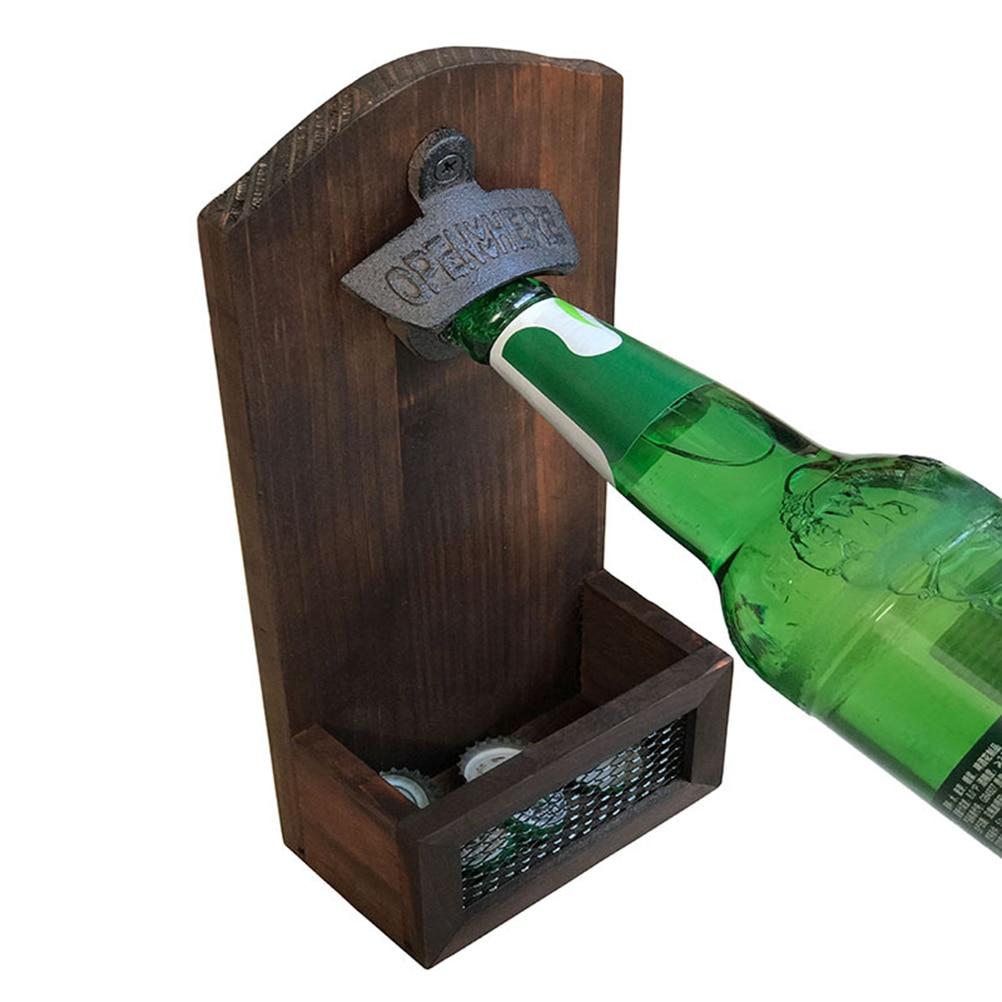 Edelstahl Wandhalterung Bar Wein Bier Soda Glas Flaschenöffner Werkzeug AB
