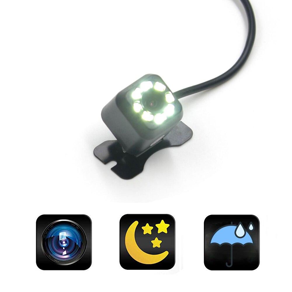 HD Автомобильная камера заднего вида 170 градусов Автомобильная камера заднего вида с широким углом обзора 8 светодиодов RCA Интерфейс автомоб...