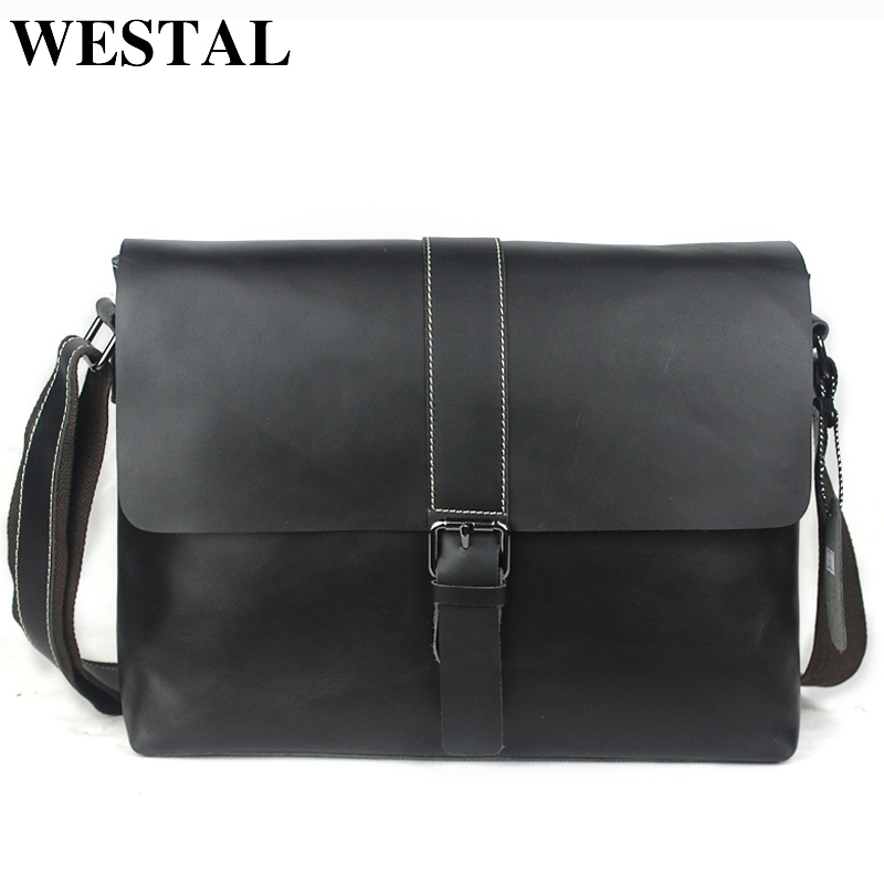 WESTAL Business Briefcase Leather Laptop Bag Men Bag Men Messenger Bags Genuine Leather Shoulder Crossbody Bags for Man Totes mva genuine leather men bag business briefcase messenger handbags men crossbody bags men s travel laptop bag shoulder tote bags