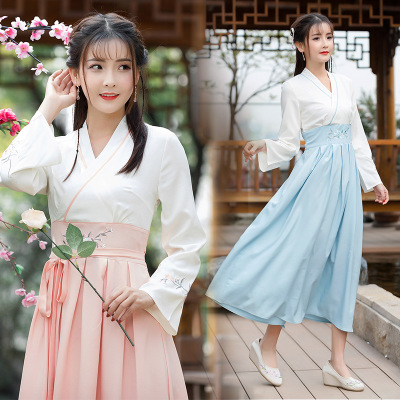 elegant Women Hanfu Ladylike chinese traditional costume for women Halloween costume for women