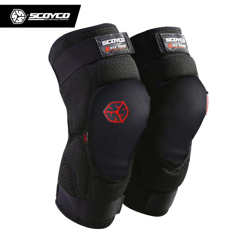 Scoyco moto course genou protège-tibia hors route équipement de protection Motocross Ski Skate motoneige haute qualité genouillères bretelles