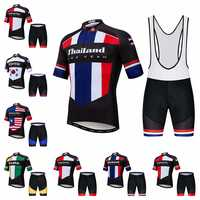 2019 Thailand cycling jersey sets Men's Bike jersey shorts suit MTB Clothing Shirts Team Maillot Ciclismo Mountain road Tops red