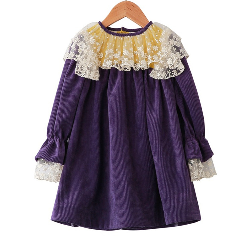 Spring and Autumn New Sweet Children's Dress Sweet Girls Clothing Children Lace Dress Children Clothes система акустическая коаксиальная kenwood kfc 1752rg