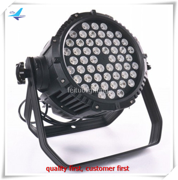 (4lights/CASE)Disco light strobe and dimmer 54x3w rgbw led par lighting ip65 rgbw par led 64 flight case