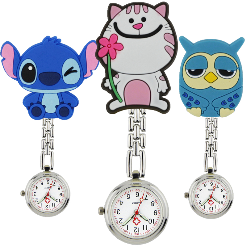 Fashion wholesale lovely cool cute animal shape nurse FOB pocket watches unisex ladies women doctor medical