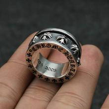 925 Silver Ring Silver Cross hanayagi nail domineering punk jewelry ring