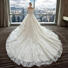 Wedding Dress 2019 One-shoulder Main Wedding Dress New Spring Europe and The United States Trailing Red Bride Wedding Dress kimberly cates the wedding dress