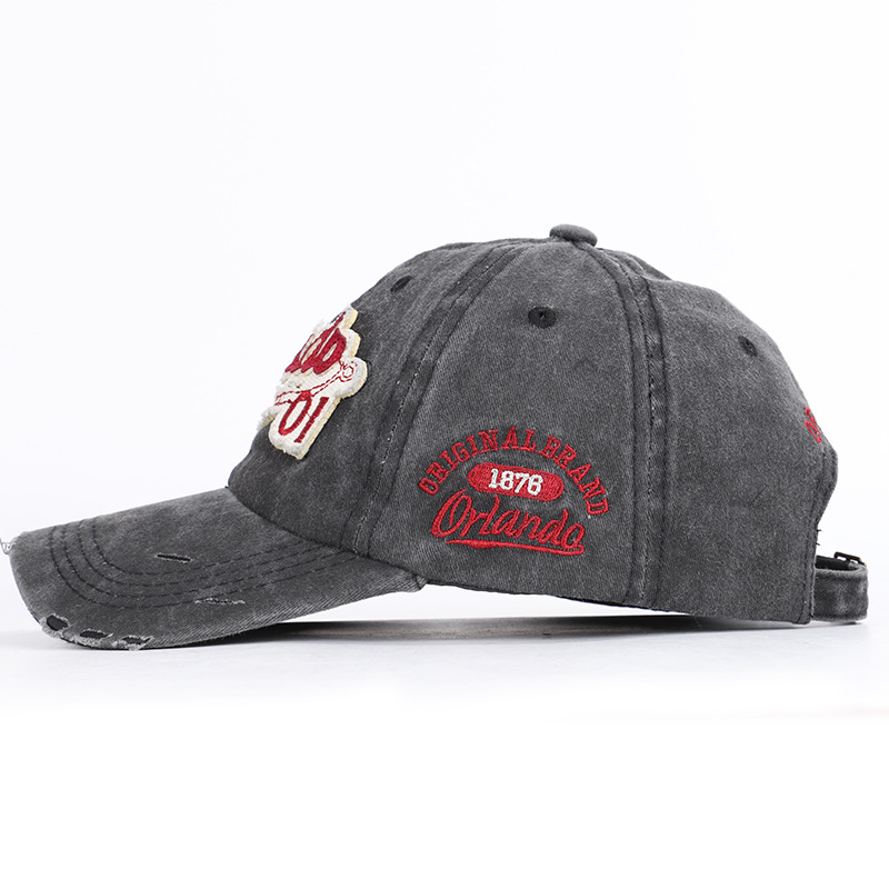 Retro Baseball Caps Orlando Embroidered Men Hat Casual Cotton in Men 39 s Baseball Caps from Apparel Accessories