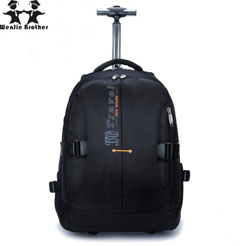 Wenjie พี่ชายใหม่ความจุขนาดใหญ่ rollingBackpack กระเป๋านักธุรกิจชายและหญิงกินนอนน้ำขับไล่กระเป๋าเดินทางกระเป๋าเดินทาง