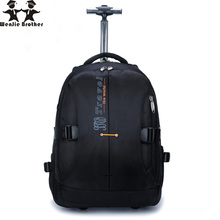 wenjie brother new large capacity rollingBackpack Bag business men and women boarding water repellent trolly luggage bags travel