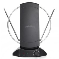 Amplified Indoor TV Antenna Max 105dBuV High Gain Aerial Booster 45 860MHz Support VHF UHF FM