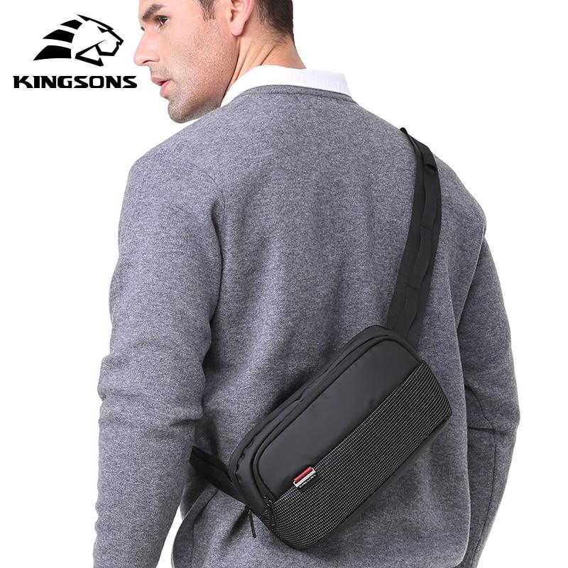 Kingsons Money Holder Belt Waist Bag Women Men Casual Sports Leather Breast Package Chest Beach Pack Sac Banane