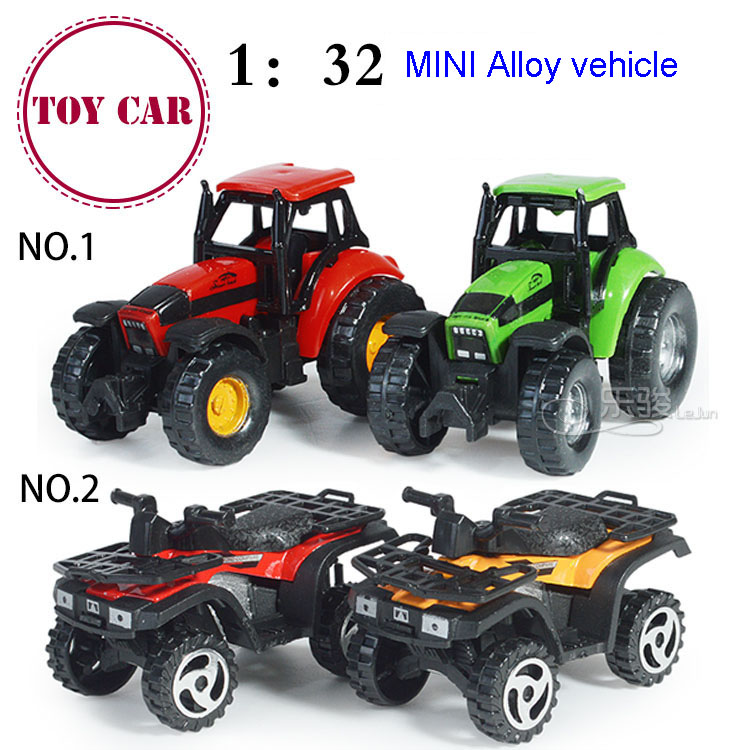 Baby 1:32 Mini alloy simulation beach motorcycles farmer car Farm vehicles toy boy glide pull back model car kids toy gifts