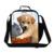 Almoço Saco de Cão personalizado Teste Padrão para Miúdos, Recipiente Almoço de Trabalho Bonito das Mulheres com alças de ombro, Isolar Alimentos saco para as meninas