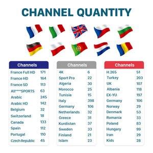 Image 2 - IPTV подписка Европа HK1 Max Smart tv Box Android 9,0 арабский французский IPTV Франция Канада испанско португальский Италия Великобритания Турция IP tv
