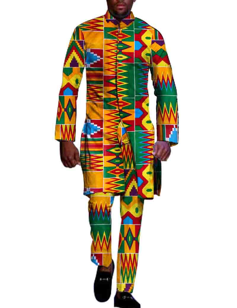 dbb30c8b177 2019 2018 Natural Autumn Mens African Clothing Plus Size 6XL Dashiki ...