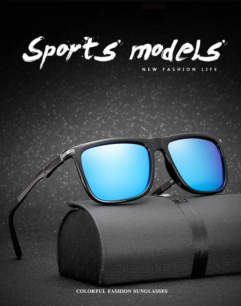 Longo Goleiro Cor Marrom Polarizada Óculos De Sol Dos Homens Com Lente HD  UV400 Proteção de Segurança Óculos de Sol Do Vintage Masculinos Condução  Eyewears ... 6c2a5d32bb