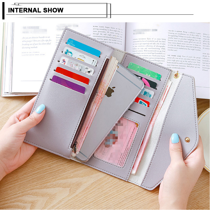 Popular Long Wallet Women Purses Tassel Fashion Coin Purse Card Holder Wallets Female Clutch Money Bag PU Leather Colors Wallet in Wallets from Luggage Bags