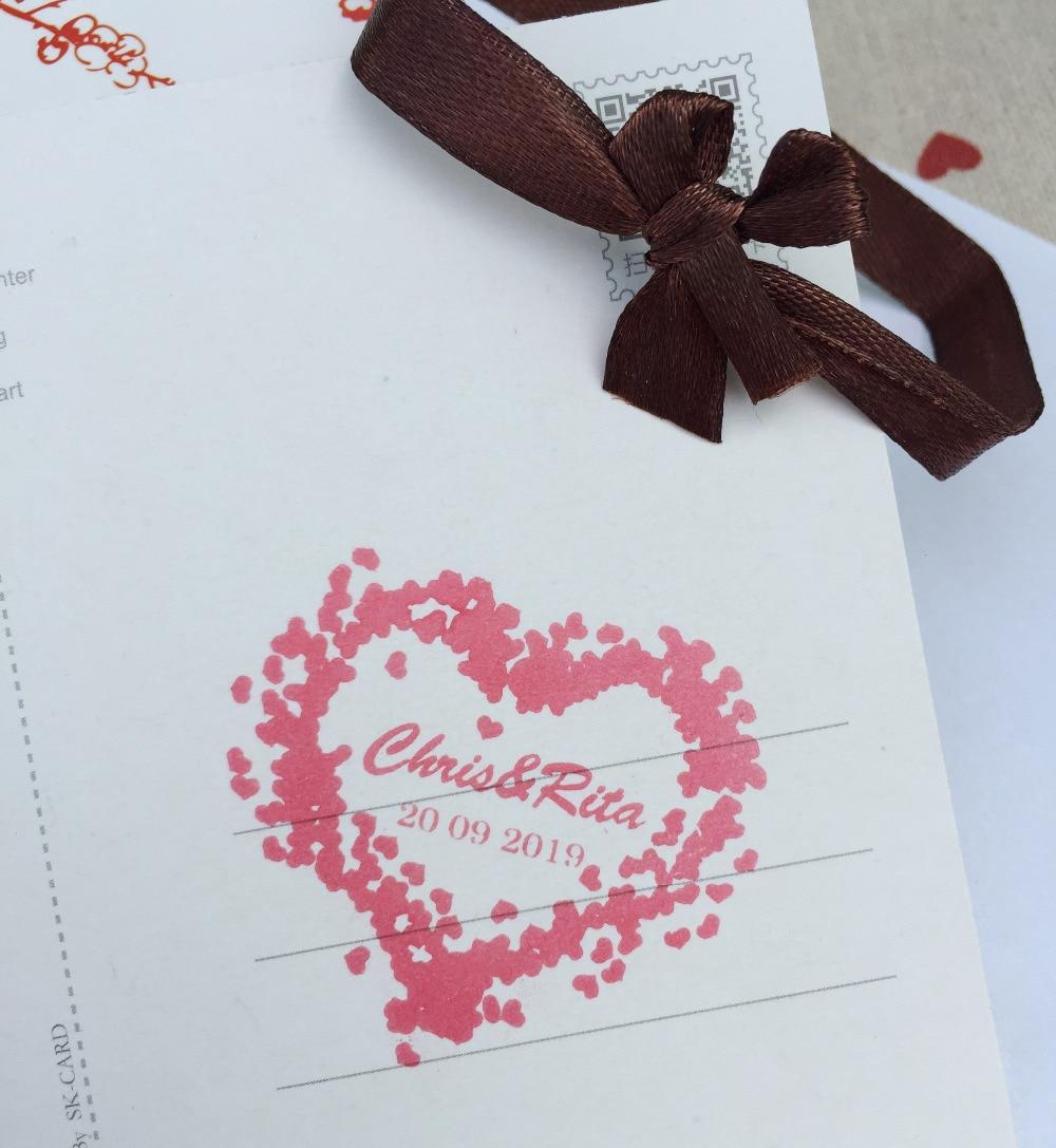 40mmloving heart wedding stamp