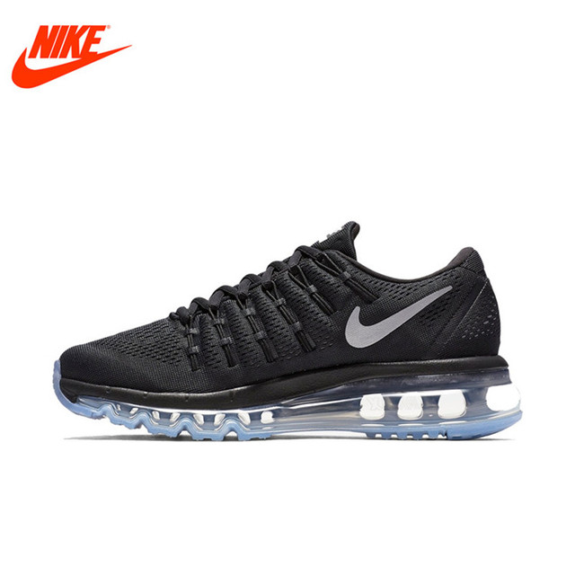 Original NIKE Breathable Black AIR MAX Women's Running Shoes Sneakers