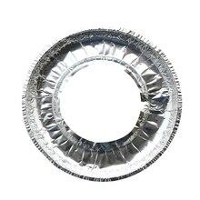 Горячая распродажа 10 шт прокладка для чистки газовой плиты Толстая алюминиевая фольга высокая-температура жиронепроницаемая бумажная фольга Защитная крышка для кухни Acce
