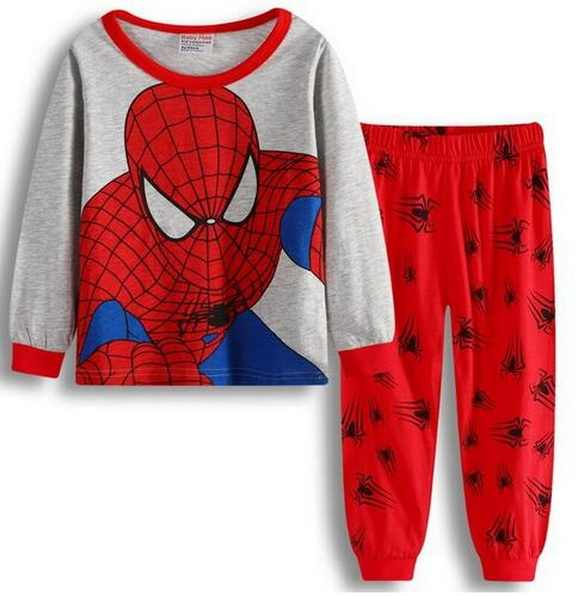 Long Sleeve Children's Pajamas Sets Cotton Christmas Pajamas for Boys Sleepwear Pajama for Girls Baby Clothes Suit  Cosy YW280