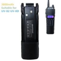 Baofeng UV 82 Battery 3800mAh Enlarged Battery UV 8D Walkie Talkie Portable Two Way Radio Baofeng UV 82 Accessories