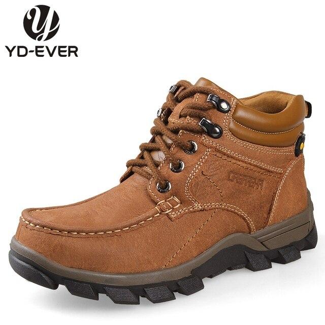 100% del cuoio genuino degli uomini stivali da neve plus size Warm scarpe  invernali Impermeabili c6168c9c7b5