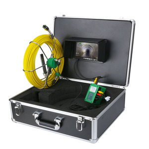 """Image 4 - 50M 40M 30M 20M Drain Pipe Sewer Inspection Video Camera 7"""" LCD Display 1000TVL  LEDs Night Vision Borescope HD Video Camera"""