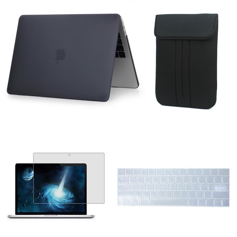 Matte Hard Case For 2018 Macbook Pro 13 inch 15 Retina 12 inch Laptop sleeve bag For Apple MacBook air 13 11.6 Keyboard Cover gearmax 13 inch laptop messenger bag for macbook 13 15 computer laptop bags for dell 14 free keyboard cover for macbook 13 15
