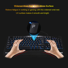 Kingangjia X500 Gaming Keyboard Diterangi Mekanis Keyboard Backlit UV Pergelangan Tangan Sisanya USB Wired Gaming Keyboard untuk Gamer(China)