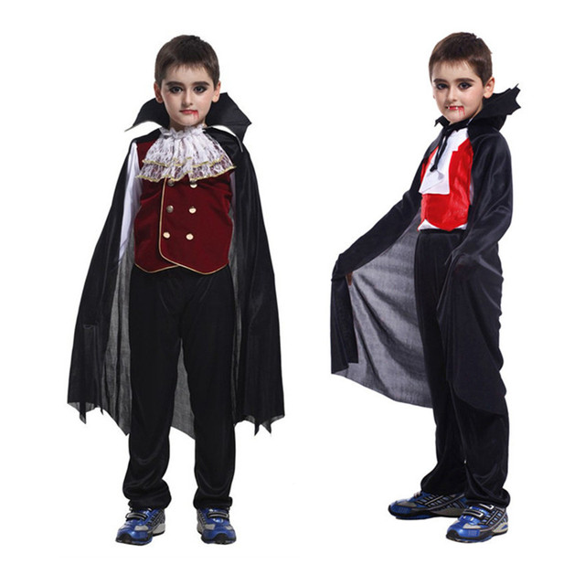 kids anime vampire family costumes children halloween costume boys vampire prince cosplay carnival party cosplay fantasia