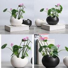 2x Vaso da Fiori di Ceramica Durevole Del Supporto Del Contenitore Per I Fiori di Piante Succulente