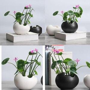 Image 1 - 2x saksı dayanıklı seramik tutucu konteyner çiçekler etli bitki
