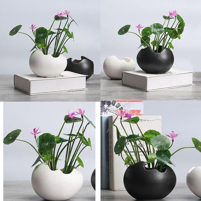 2x saksı dayanıklı seramik tutucu konteyner çiçekler etli bitki