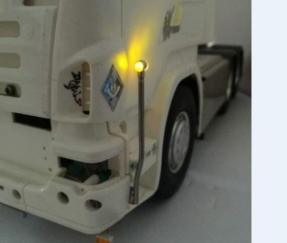 Vertical Led light For 1/14 scale hobby Tractor R730 730 Holland r620 r470 trailer 6x4 engineering truck V8 VOLVO