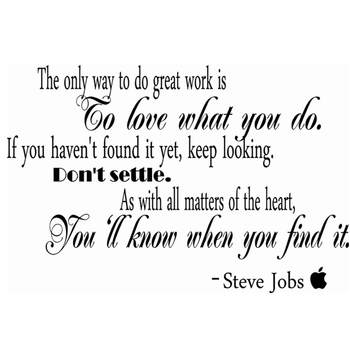 free shipping Steve Jobs Removable Wall Decals Quotes ,Vinyl Wall Art Inspirational Stickers office decor m2000 image