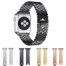 neway Metal Stainless Steel Solid Watch Band For Apple Series 4 3 2 1 iWatch 40mm 44mm 38mm 42mm Strap with Hook Buckle