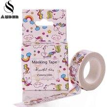 Kawaii Trojan Horse Colour Washi Tape DIY Craft Decor Scrapbooking Sticker Roll Masking Adhesive Paper Tape School Stationery