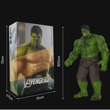 55 CENTÍMETROS The Avengers Superhero Hulk Bruce Banner Com Calças E Colete Cowboy PVC Action Figure Collectible Modelo Toy L509(China)