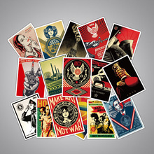 Pvc Stickers 68PCS Retro No Repetition Waterproof