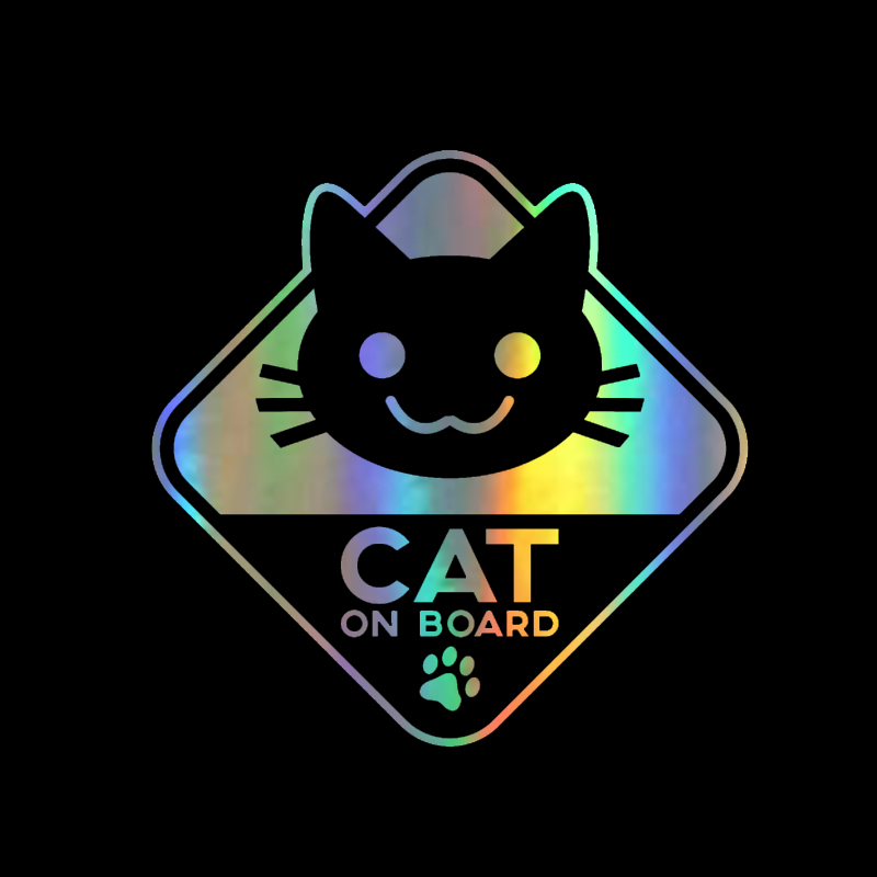 funny vinyl sticker car decal cat on board 16cm 16cm sticker on car for ford