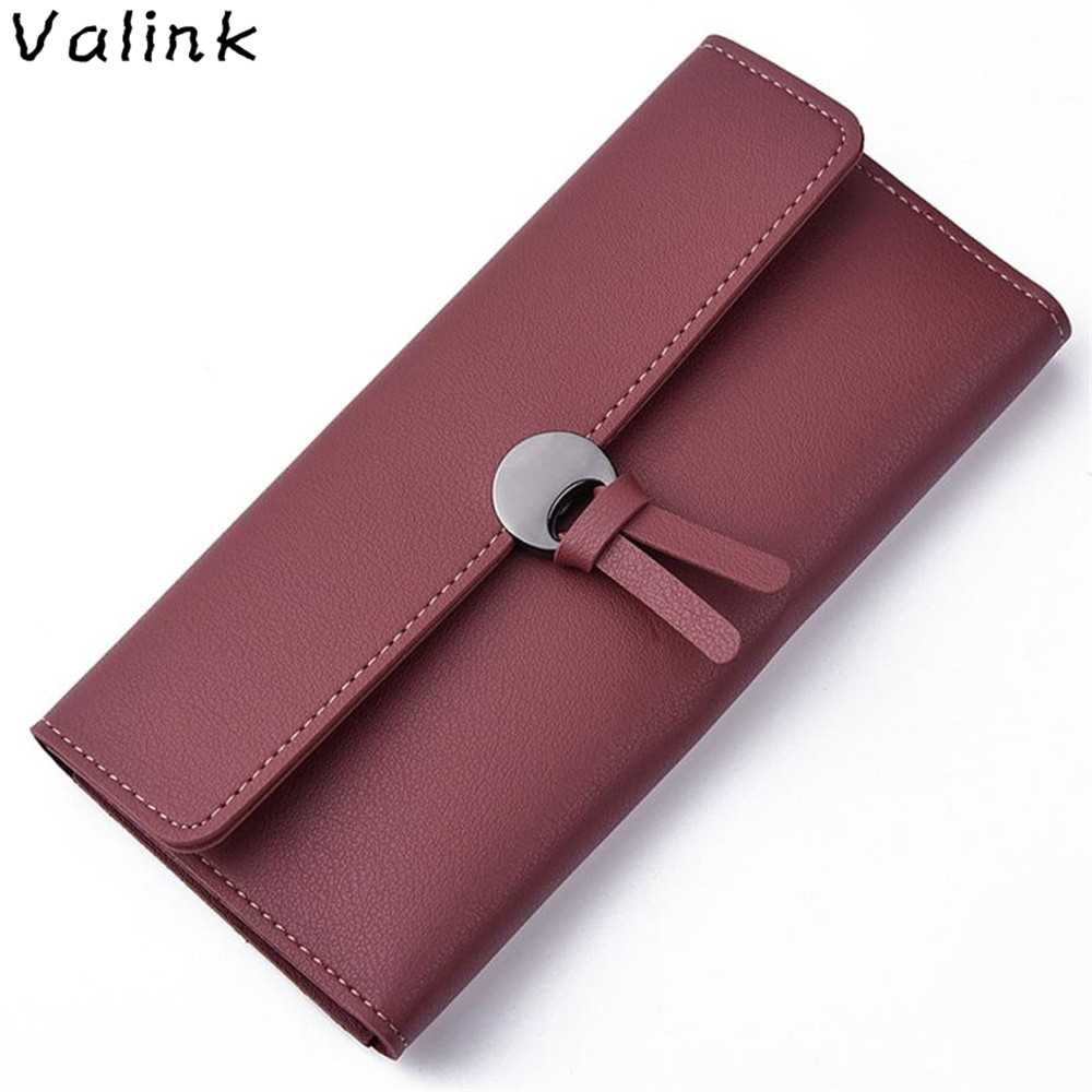 Valink 2017 New Womens Wallets and Purses Fashion Leather Luxury Brand Wallet Leisure Clutch Bag Long Purse Carteira Feminina