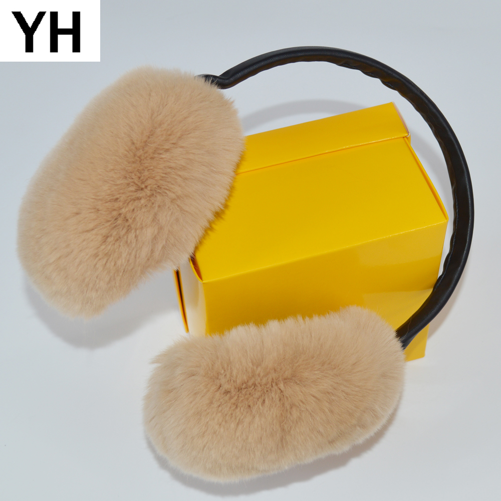 Hong Kong Visiting Check Point Winter Earmuffs Ear Warmers Faux Fur Foldable Plush Outdoor Gift
