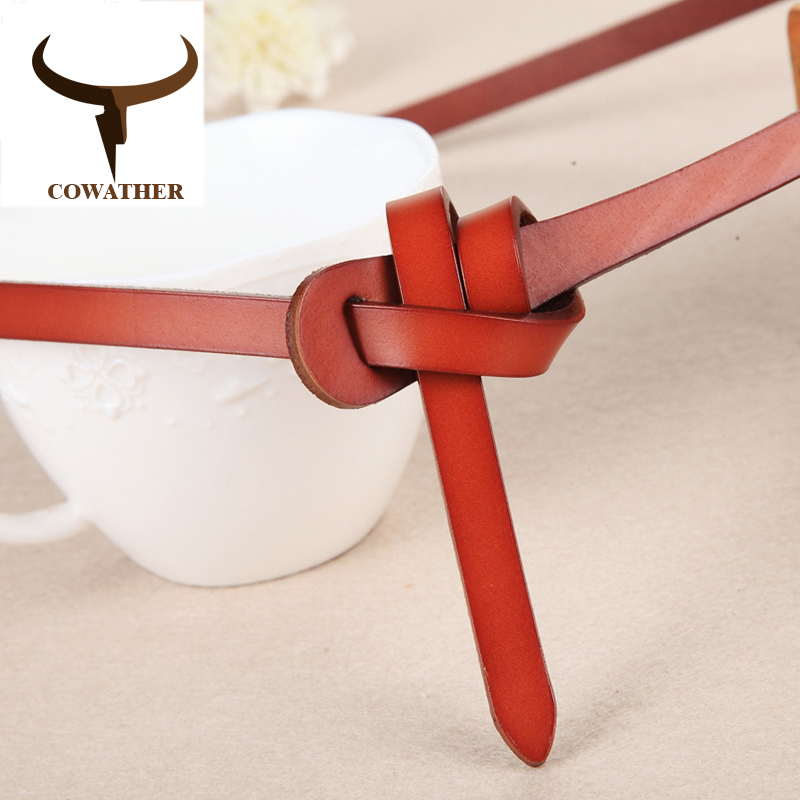 COWATHER Luxury women   belts   cow genuine leather fashion design strap female nice quality cinto feminino original brand