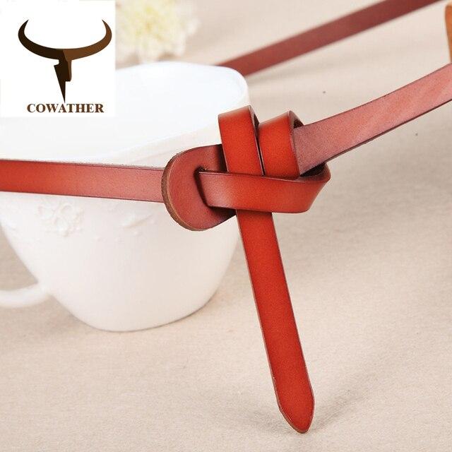 Cowather роскошные женские ремни Корова Натуральная кожа модные дизайнерские ремень женский хорошее качество Чинто Оригинальный бренд