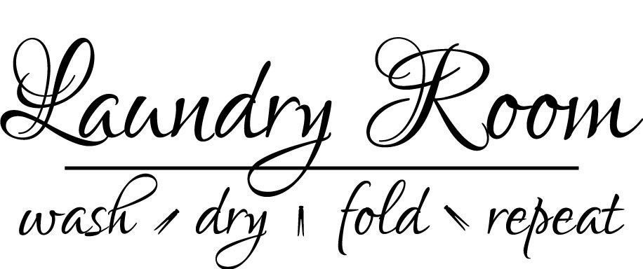 New Fashion Laundry Room Vinyl Wall Decal Laundry Letter